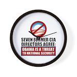Seven CIA Directors Wall Clock