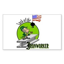 LUCK OF THE IRONWORKER Rectangle Decal