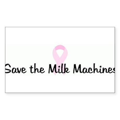 Save the Milk Machines pink r Rectangle Sticker