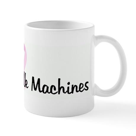 Save the Milk Machines pink r Mug