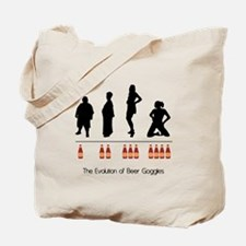 Evolution of Women with Beer Tote Bag
