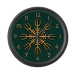 Gold Aegishjalmur Large Wall Clock