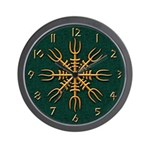 Gold Aegishjalmur Wall Clock