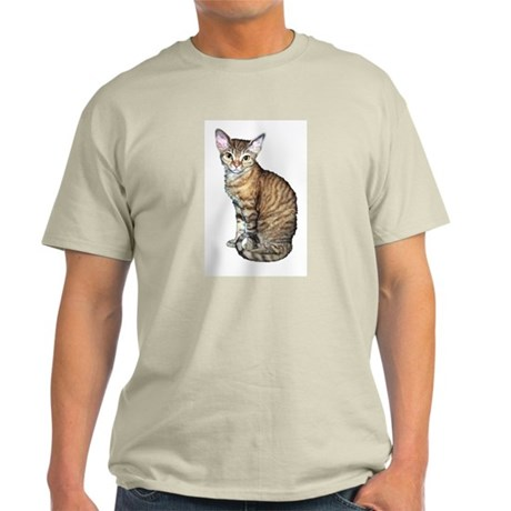 Devon Rex Cat Ash Grey T-Shirt