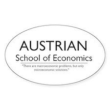 Austrian School of Economics Oval Decal
