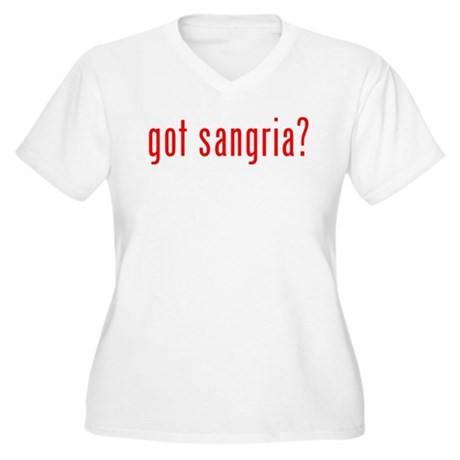 got sangria? Women's Plus Size V-Neck T-Shirt