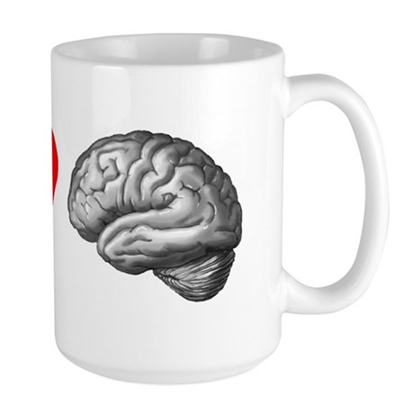 Large I Love Brain Mug