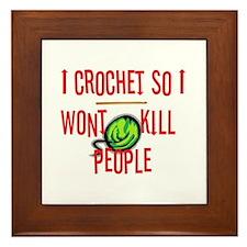 Cute Crochet Framed Tile