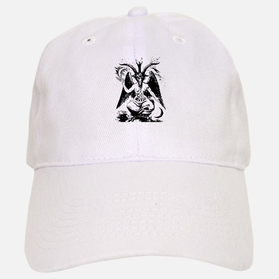 Vintage Black Baphomet Baseball Cap