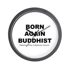 Born Again Buddhist Wall Clock