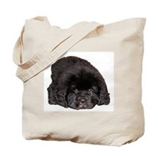 Newfoundland Puppy Dog Tote Bag