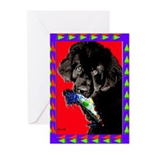 Newfoundland Dog It's a Party! Greeting Cards (Pk