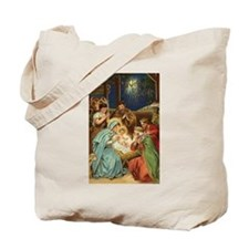Nativity Vintage Christmas Art Tote Bag