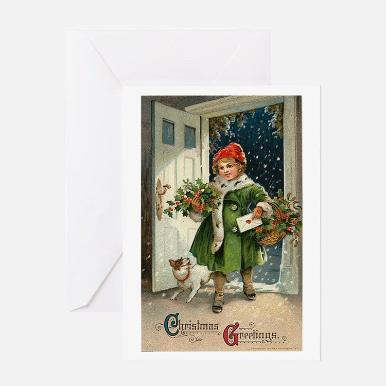 Vintage Christmas Art Greeting Card