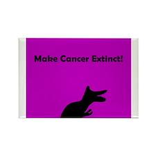 Dinosaur Make Cancer Extinct Rectangle Magnet P/B
