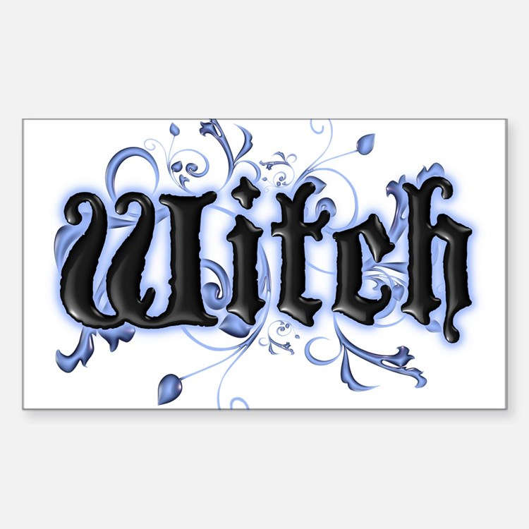 Witch Rectangle Decal