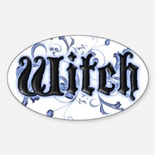 Witch Oval Decal