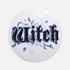 Witch Ornament (Round)