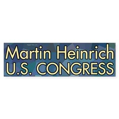 Martin Heinrich for Congress bumper sticker