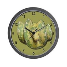 Green Tree Python Wall Clock