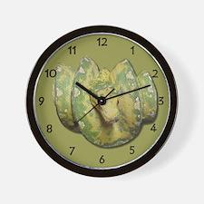 Green Tree Python Wall Clock