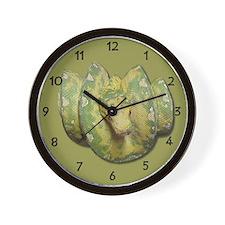 Funny Green tree python Wall Clock