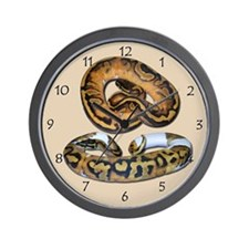 Piebald Ball Python Wall Clock