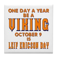 Be A Viking Tile Coaster
