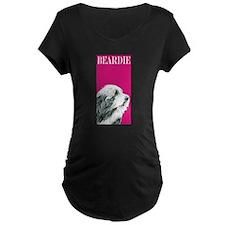 Pop Pink Bearded Collie T-Shirt