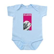 Pop Pink Bearded Collie Beardie Infant Bodysuit