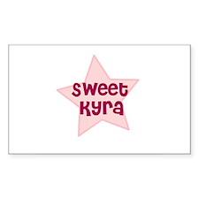 Sweet Kyra Rectangle Decal