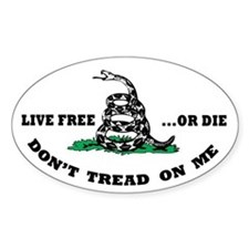 Don't Tread on Me Sticker w/ Live Free or Die ()
