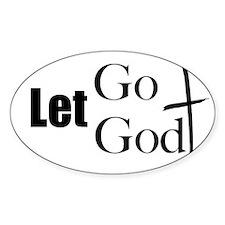 Let Go Let God Oval Decal
