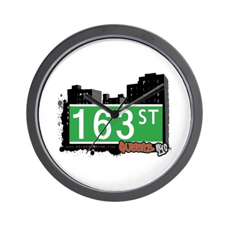 163 STREET, QUEENS, NYC Wall Clock