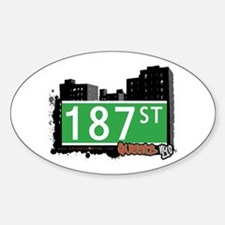 187 STREET, QUEENS, NYC Oval Decal