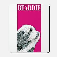 Pop Pink Bearded Collie Beardie Mousepad