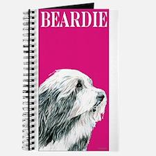 Pop Pink Bearded Collie Beardie Journal