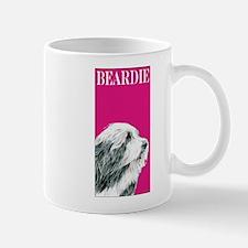 Pop Pink Bearded Collie Beardie Mug