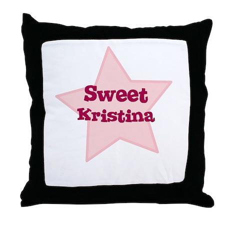 Sweet Kristina Throw Pillow