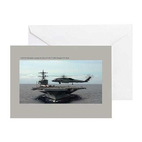 CVN 77 USS George H.W. Bush Greeting Card