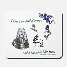 Too Fond of Books Mousepad
