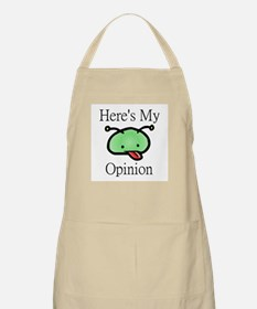 Here's My Opinion Alien BBQ Apron