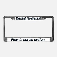 license plate frame dh fear is not an option