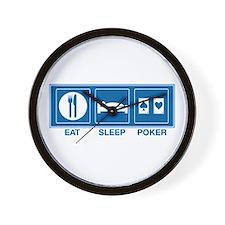 Eat Sleep Poker Wall Clock