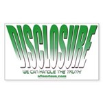 Disclosure (Green) Rectangle Sticker