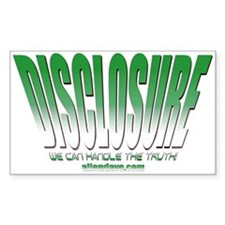 Disclosure (Green) Rectangle Decal