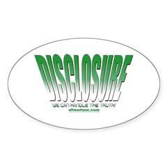 Disclosure (Green) Oval Decal