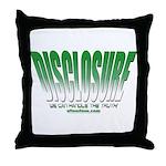 Disclosure (Green) Throw Pillow
