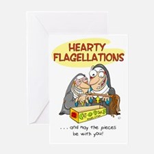 HEARTY FLAGELLATIONS Greeting Card