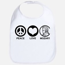 Peace Love Mozart Bib